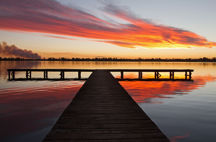 Smoke and Flame over Lake Wendouree, Jill Wharton
