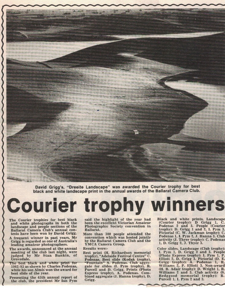 1983 Courier Trophy Winners