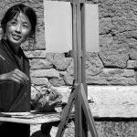 The Street Painter by Anne Carroll Score of 11