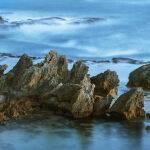 Rocks at Sunset by Murray McEachern Scored 11