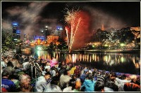 New Years Eve on the Yarra - Peter Hammer : Merit